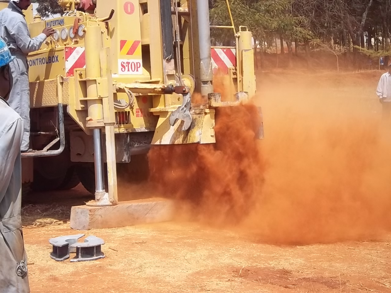 3-Ground Breaking with Air Drilling Rig